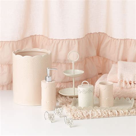 pink and white bathroom accessories chic peek introducing my new kohl s bath collection