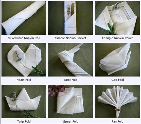 Fancy Paper Napkin Folding Ideas - napkin folding napkin folding guide
