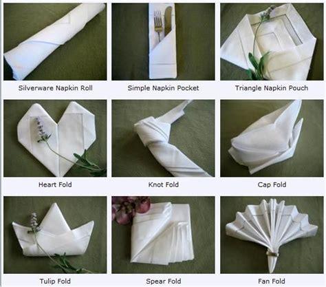 Different Ways To Fold Paper - napkin folding napkin folding guide
