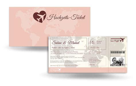 Hochzeitseinladung Individuell Gestalten by Hochzeitseinladung Flugticket Jetzt Bestellen