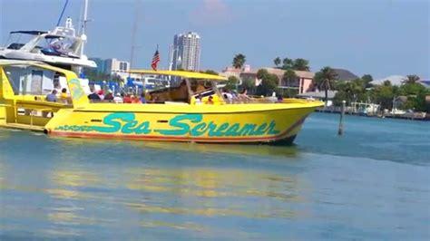 screamer boat gray line orlando sea screamer boat ride in clearwater