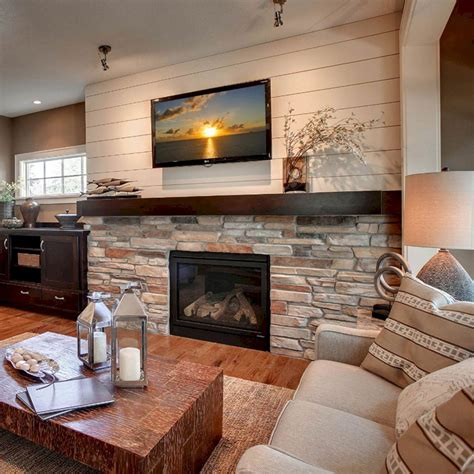 stone fireplace decor 45 modern family room with beautiful stone and shiplap