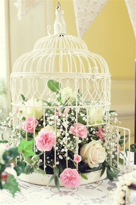 How To Decorate Home With Flowers by Vintage Flower Birdcages