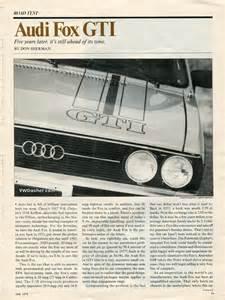 1978 Audi Fox Gti Car Driver June 1978 Audi Fox Gti Vwdasher
