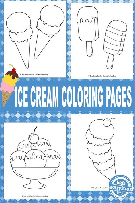 summer ice cream coloring pages 89 best images about summer theme kindergarten on pinterest