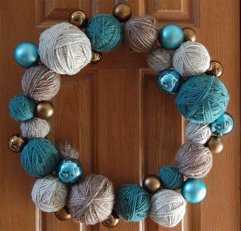 diy ornaments yarn 25 unique yarn ideas on yarn crafts diy yarn wreath and winter wreaths