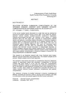 Aspek Hukum Informed Consent Dan Rekam Medis hubungan kelengkapan penyaian isi informed consent