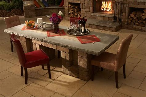 stone tile top dining table decosee com