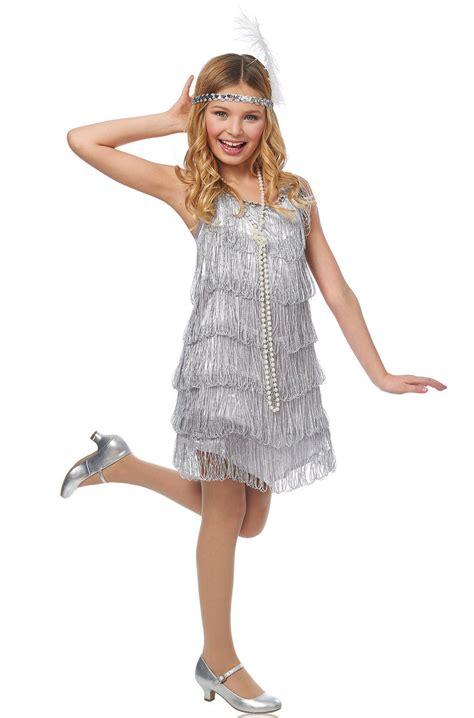 silver flapper child costume purecostumescom