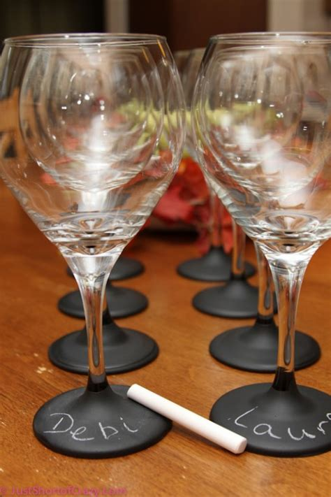 diy chalk paint glasses how to make diy chalkboard painted wine glasses how to