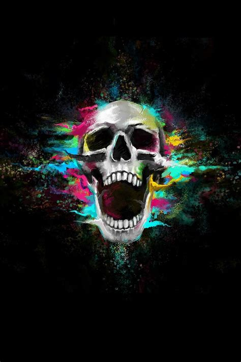 wallpaper for iphone 6 skull add a caption image 2136249 by saaabrina on favim com