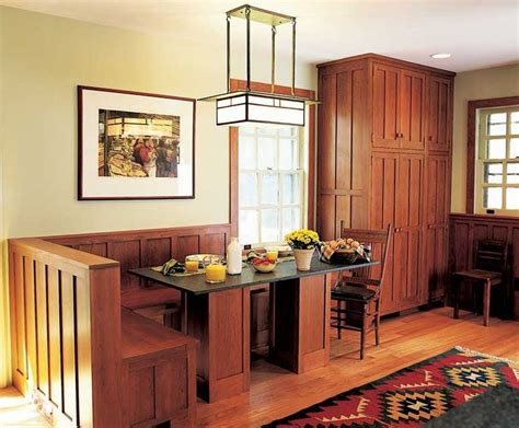 mission cabinets kitchens pinterest mission style kitchen built in dining area home up