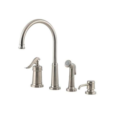 Delta Kitchen Soap Dispenser Brushed Nickel by Pfister Gt26 4ypk Ashfield 4 Kitchen Faucet In