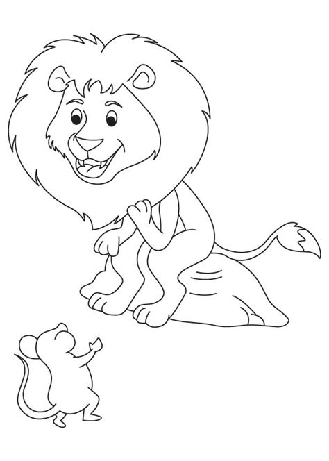 coloring pages the lion and the mouse the lion and mouse coloring pages coloring pages
