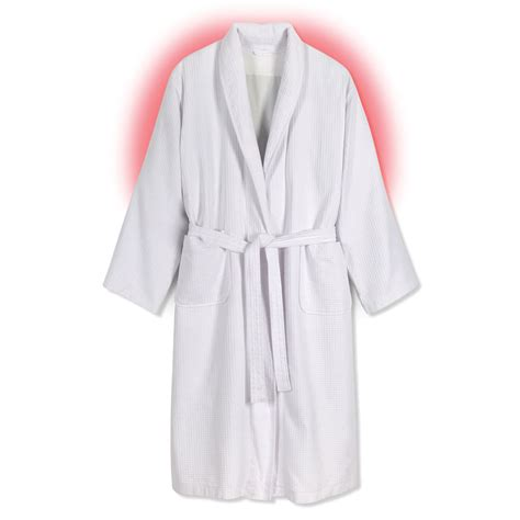 The Robe the heated cotton robe hammacher schlemmer