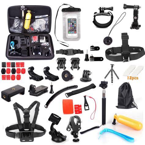Gopro Kit gopro accessory kit evoplus ultra 58 in 1 combo camcorder bundle kits for gopro 3