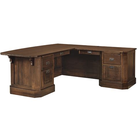 Mission Saturn Corner Desk Handmade Amish Desk Mission Corner Desk