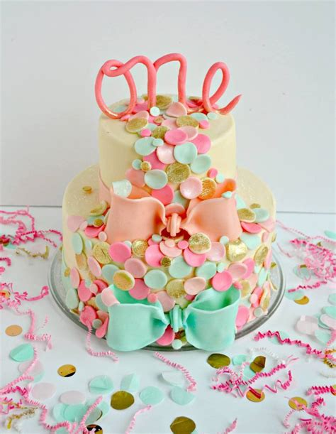 themed birthday cakes confetti themed birthday cake cakecentral