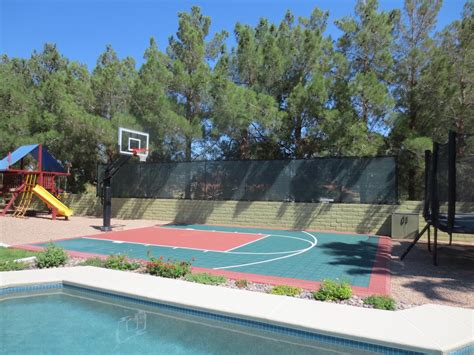 backyard pool and basketball court it is nice to have a swimming pool right next to the