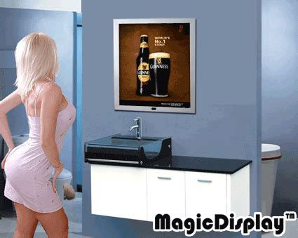 Magic Display Mirror Switches Between You And Would You by China Advertising Aluminum Magic Mirror Light Box Photos