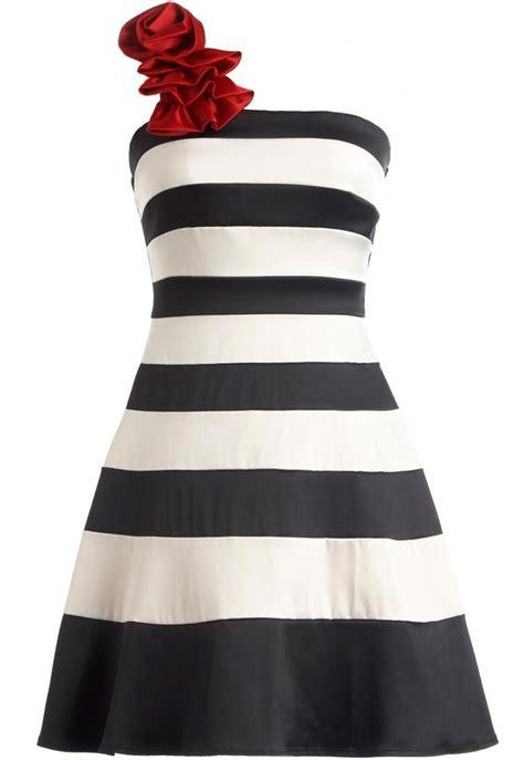 Nautical Nostalgia Dress   One Shoulder Striped Retro Dresses   RicketyRack.com