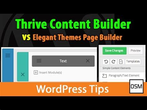thrive themes content builder demo thrive content builder vs elegant themes page builder