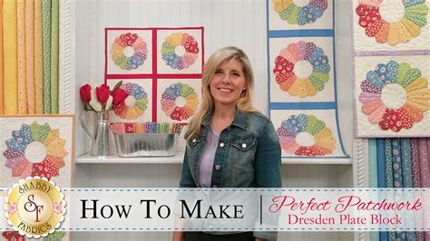 How To Make Patchwork - how to make a patchwork dresden quilt block a