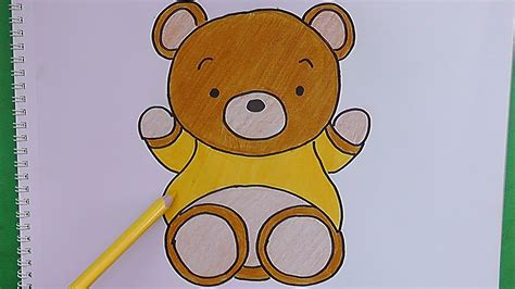 imágenes de osos fáciles para dibujar como dibujar y pintar paso a paso a oso how to draw and
