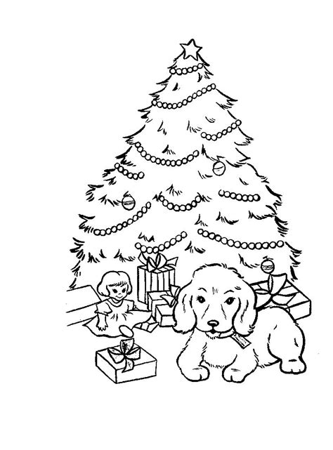 christmas tree and presents coloring page xmas coloring pages