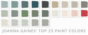top 25 paint colors from joanna gaines collection