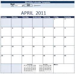 Monthly Calendar Schedule Template by Monthly Calendar Schedule Template 9 Free Templates