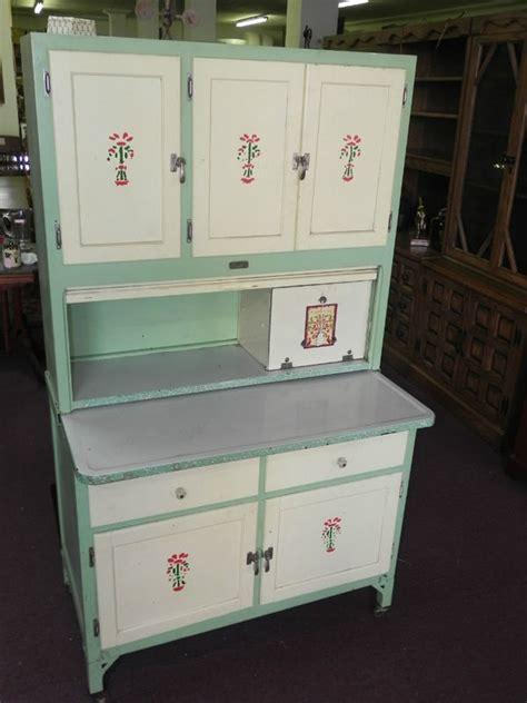 vintage seller s kitchen cabinet green paint porcelain top