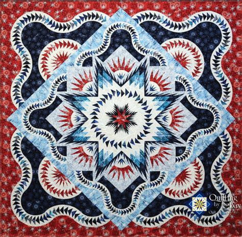 Glacier Quilt Pattern by Glacier Block Of The Month Kit White And