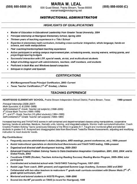 Free Resume Sles For Teachers by Math Resume Sales Lewesmr