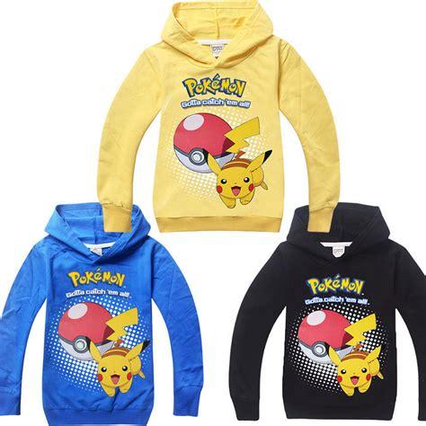 Hoodie Go Pikachu Mistykingkonveksi go kid boys pikachu pokeball hoodies sweatshirts tops t shirt coat ebay