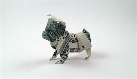 Origami Bulldog - how to make an origami dollar bulldog crafts on