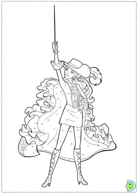 barbie 3 musketeers coloring pages az coloring pages