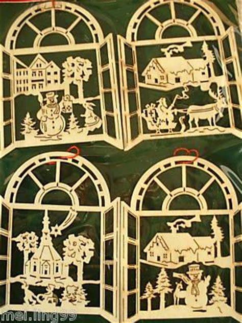 Fensterbilder Weihnachten Aus Holz by 64 X Fensterbild Weihnachten Holz Baumschmuck Ebay