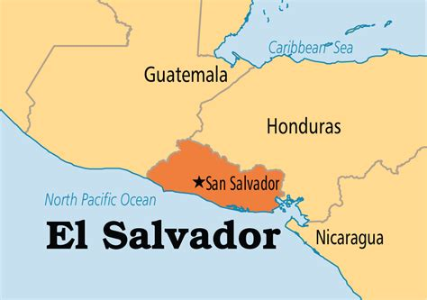 the map of el salvador el salvador operation world