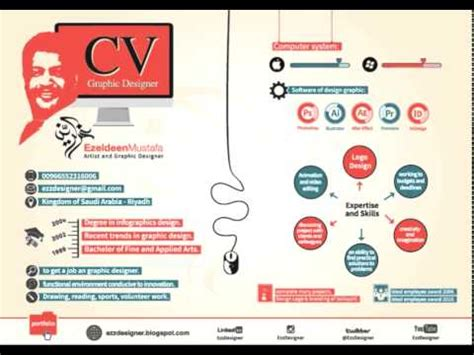 Graphic Design Resume Samples by C V Graphic Designer Youtube