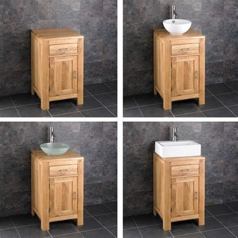 solid oak vanity units for bathrooms alta 75cm wide double door bathroom solid oak vanity cabinet unit sink basin ebay
