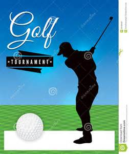 golf tournament flyer template illustration stock