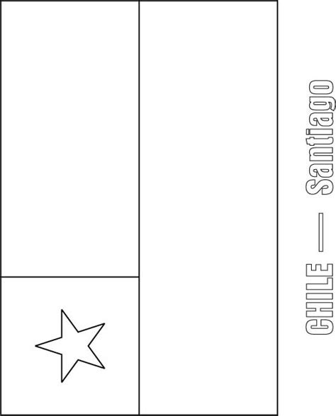 chile flag free coloring pages