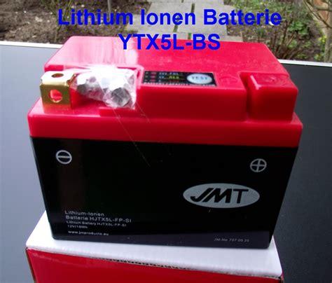 Motorrad Lithium Ionen Batterie Ladegerät by Lithium Ionen Batterie Ytx5l Bs 495g Schnellladef 228 Hig