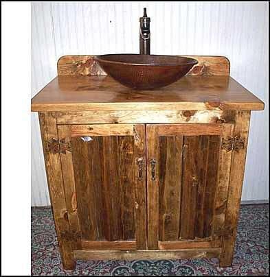 rustic vessel vanity bathroom vanity for vessel vanity southwestern