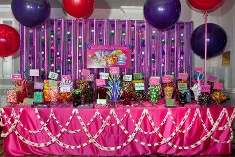 massive hot pink purple candy bar buffet parties