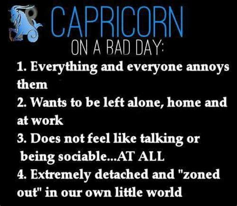 daily horoscope capricorn on a bad day 1 everything
