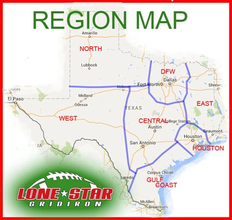 texas school region map lone gridiron has your txhsfb region covered lone gridiron