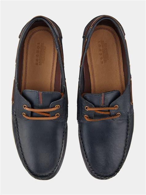 boat shoes burton navy leather boat shoes burton