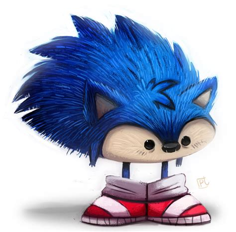 painting and drawing day 693 sanic the heegeherg by cryptid creations on